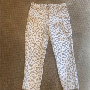 New Abercrombie & Fitch Leopard Print Jeans